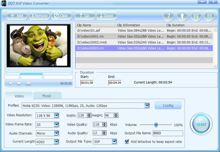 007 3GP Video Converter can convert all popul