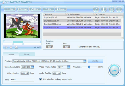 007 iPod Video Converter can convert all popu