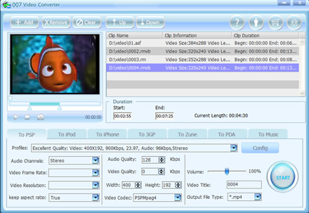 Click to view 007 Video Converter 1.48 screenshot